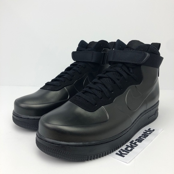 Nike Mens 9 Air Force 1 One Foamposite Cup Triple Black Ah6771 001 BOOTS